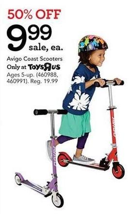 Toys R Us Black Friday: Avigo Kids Coast Scooters for $9.99