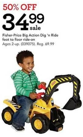 Toys R Us Black Friday: Fisher-Price Big Action Dig 'n Ride Ride-on for $24.99