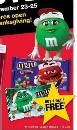 CVS Black Friday: M&Ms, 8-11.4 Oz. - B1G1 Free