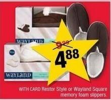 CVS Black Friday: Wayland Memory Foam Slippers, Restor Style or Wayland Squire Styles for $4.88
