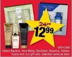 CVS Black Friday: Select Gift Sets from Nautica, Vera Wang, Beckham, Beyonce, Adidas, Guess and JLo. for $12.99