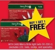 CVS Black Friday: Merry Brite Light Sets, Select Styles, 50-200 ct. - B1G1 Free