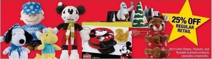 CVS Black Friday: Licensed Products from Disney, Peanuts and Rudolph - 25% Off Regular Retail