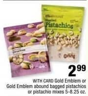 CVS Black Friday: Gold Emblem Pistachio Bags, in Pistachio or Pistachio Mix Flavors, 5-8.25 Oz. for $2.99
