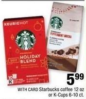 CVS Black Friday: Starbucks Coffee, 12 oz. Bag or 6-10 ct. K-Cups for $5.99