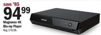 Meijer Black Friday: Magnavox 4k Blu-ray Player for $94.99
