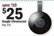 Meijer Black Friday: Google Chromecast for $25.00