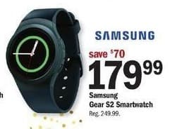 Meijer Black Friday: Samsung Gear S2 Smartwatch for $179.99