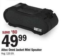 Meijer Black Friday: Altec Omni Jacket Mini Speaker for $49.99