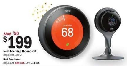 Meijer Black Friday: Nest Learning Thermostat for $199.00