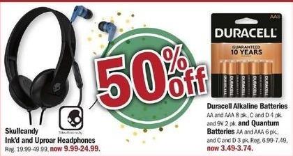 Meijer Black Friday: Duracell 9V Alkaline Batteries, 2 Pk. for $3.49 - $3.74