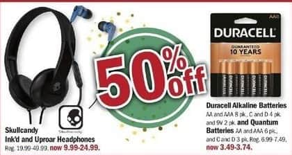 Meijer Black Friday: Duracell C and D Quantum Batteries, 3 Pk. for $3.49 - $3.74