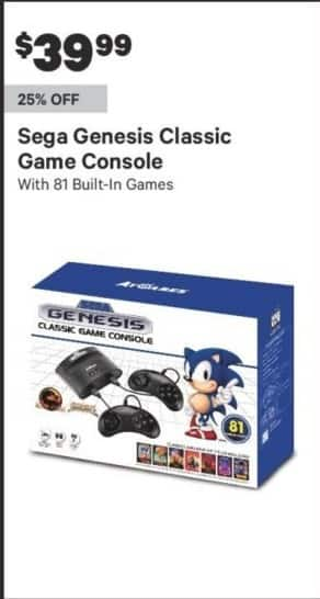 Groupon Black Friday: Sega Genesis Classic Game Console for $39.99