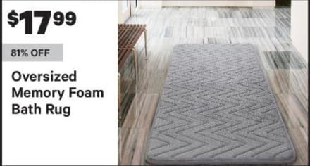 Groupon Black Friday: Oversized Memory Foam Bath Rug for $17.99