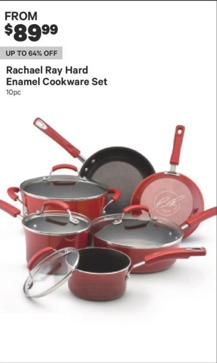 Groupon Black Friday: Rachael Ray Hard Enamel Cookware Set for $89.99