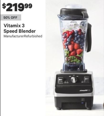 Groupon Black Friday: Vitamix 3 Speed Blender for $219.99