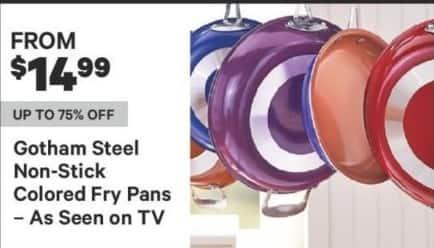 Groupon Black Friday: Gotham Steel Non-Stick Colored Fry Pans for $14.99