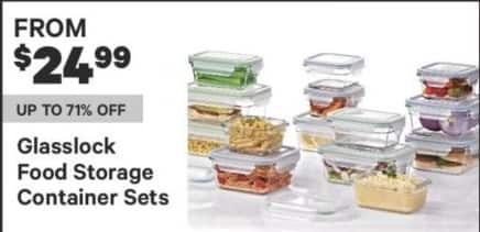 Groupon Black Friday: Glasslock Food Storage Container Sets For $24.99