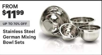 Groupon Black Friday: Stainless Steel German Mixing Bowl Sets for $11.99