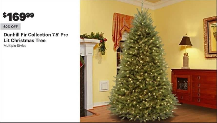 Dunhill Fir Christmas Tree.Groupon Black Friday Dunhill Fir Collection 7 5 Pre Lit