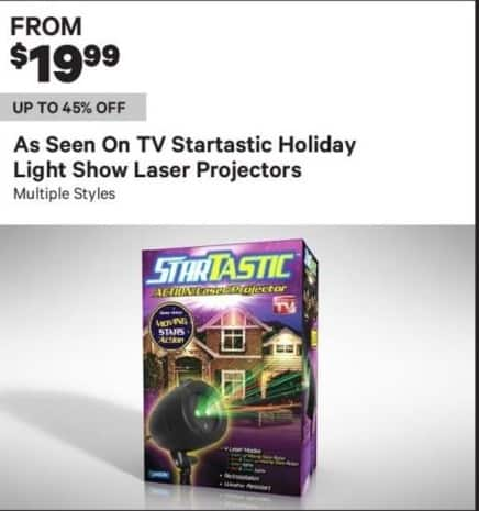 Groupon Black Friday: TV Startastic Holiday Light Show Laser Projectors, Multiple Styles - From $19.99