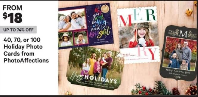 Groupon Black Friday: PhotoAffections Holiday Photo Cards, 40, 70 or 100 Ct. - From $18
