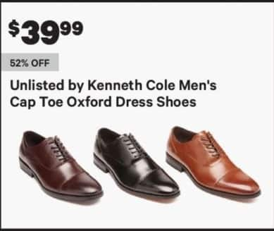 Groupon Black Friday Unlisted By Kenneth Cole Mens Cap Toe Oxford