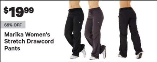 Groupon Black Friday: Marika Women's Stretch Drawcord Pants for $19.99