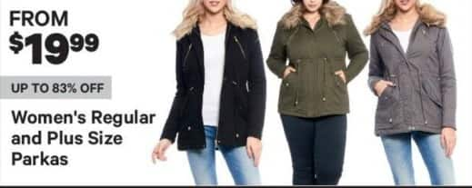 Groupon Black Friday: Women's Parks, Plus and Regular Sizes - From $19.99