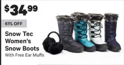 Groupon Black Friday: Snow Tec Women's Snow Boots w/ Ear Muffs for $34.99