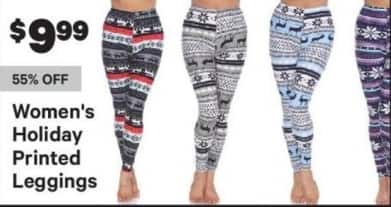 Groupon Black Friday: Women's Holiday Printed Leggings for $9.99