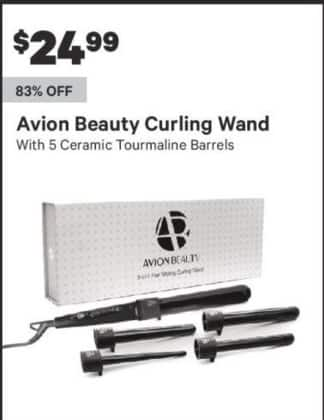 Groupon Black Friday: Avion Beauty Curling Wand w/ 5 Ceramic Tourmaline Barrels for $24.99
