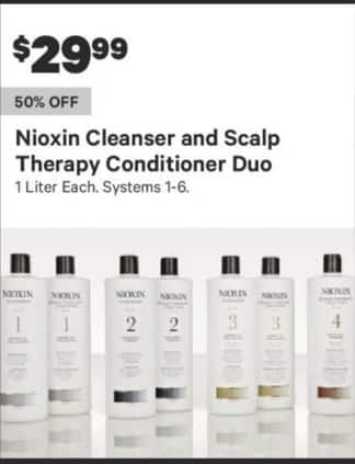 Groupon Black Friday: Nioxin Cleanser and Scalp Therapy Conditioner Duo for $29.99