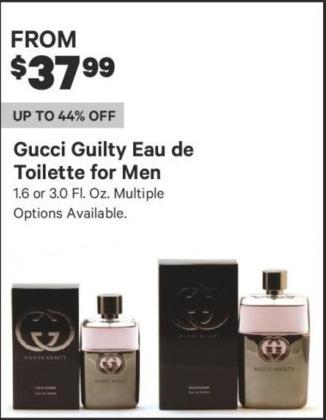 Groupon Black Friday: Gucci Guilty Eau de Toilette for Men, 1.6 or 3.0 Fl. Oz. - From $37.99