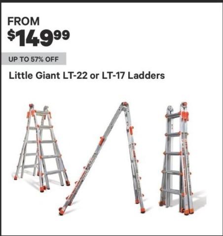 Groupon Black Friday: Little Giant Ladders, LT-22 or LT-17 Models for $149.99