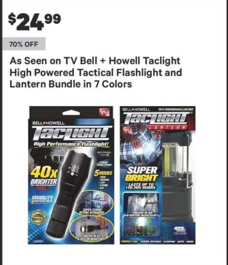 Groupon Black Friday: Bell + Howell Taclight LED Flashlight for $24.99