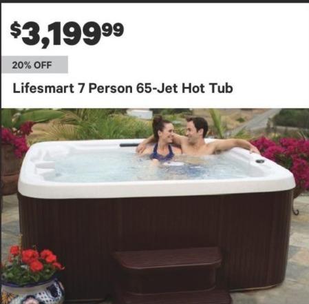 Groupon Black Friday: Lifesmart 7 Person 65-Jet Hot Tub for $3,199.99