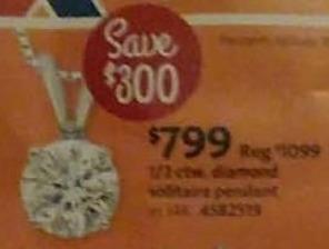 AAFES Cyber Monday: 1/2 ct tw Diamond Pendant for $799.00