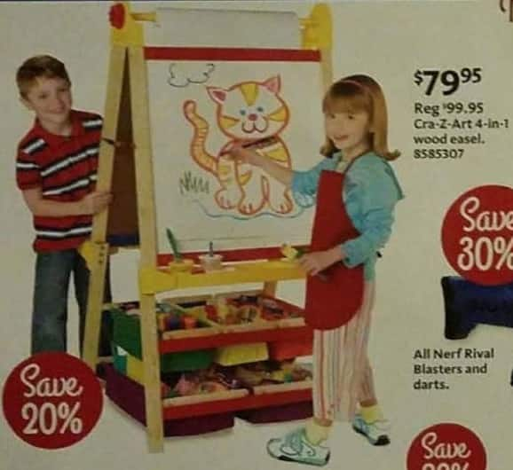 AAFES Cyber Monday: Cra-Z-Art 4-in-1 Wood Easel for $79.95