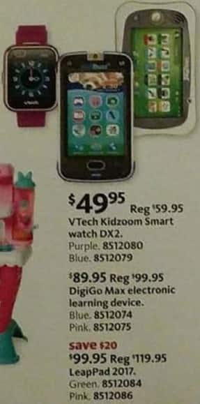 AAFES Cyber Monday: VTech Kidzoom Smart Watch DX2, Purple or Blue Colors for $49.95