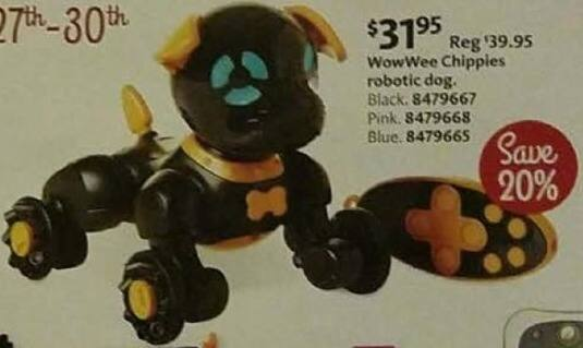 AAFES Cyber Monday: WowWee Chippies Robotic Dog for $31.95