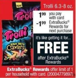 CVS Black Friday: Trolli Candy, 6.3-8 oz. + $1.99 ExtraBucks Rewards w/ Card for $1.99