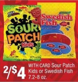 CVS Black Friday: (2) Sour Patch Kids w/ Card, 7.2-8 Oz. w/ Card for $4.00