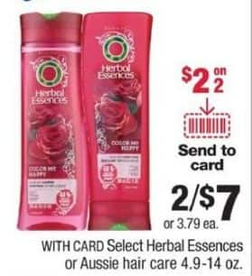 CVS Black Friday: (2) Select Shampoos and Conditioners, 4.9-14 oz. from Herbal Essences or Aussie w/ Coupon for $7.00