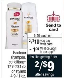 CVS Black Friday: (2) Pantene Shampoo and Conditioner, 17.7-20.1 Oz. /w Coupon for $9.00