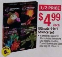 Menards Black Friday: Ultimate 4-in-1 Science Set for $4.99
