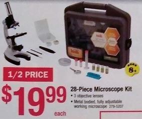Menards Black Friday: 28-Piece Microscope Kit for $19.99
