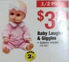 Menards Black Friday: Baby Laughs & Giggles Doll for $3.99