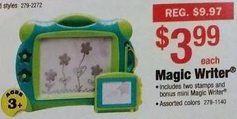 Menards Black Friday: Magic Writer Toy for $3.99