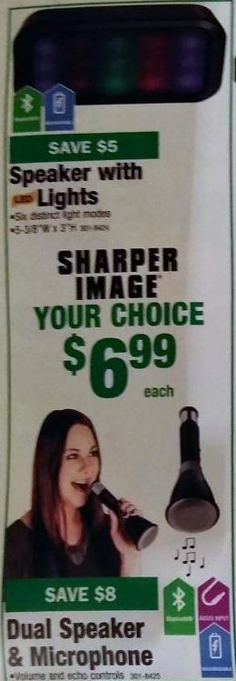 Menards Black Friday: Sharper Image Dual Speaker & Microphone for $6.99